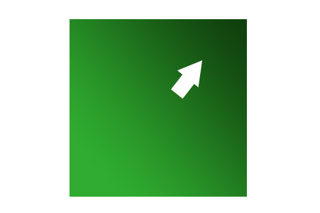 グリーンの傾斜を真上から見たイメージ画像