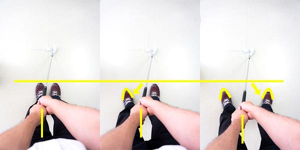 アドレスで脚を開く順の画像