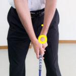 ゴルフアドレスで手の位置は左股関節の前のイメージがマスト