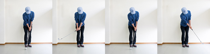 ピッチ&ランアプローチの連続画像