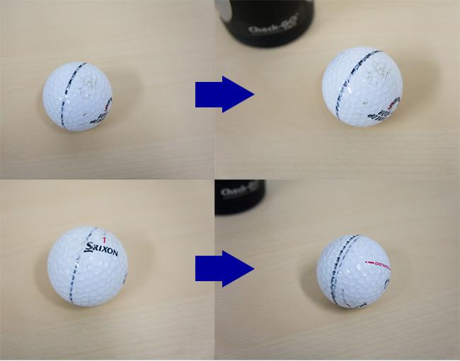 ボールの芯がずれるのかの検証の画像