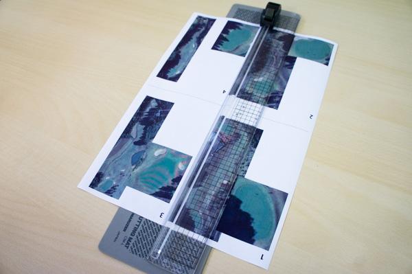 自作ヤーデージブックを印刷した画像