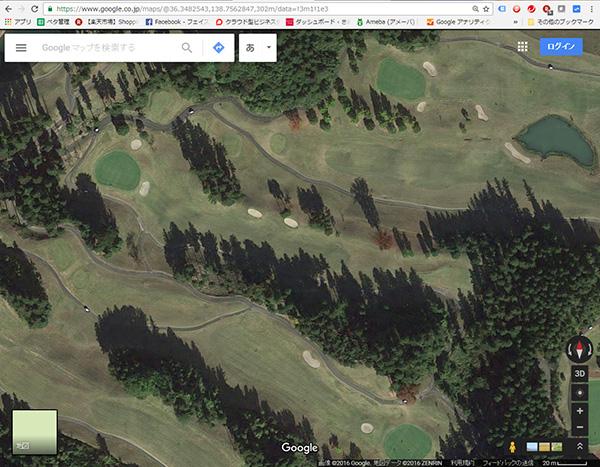 グーグルマップでゴルフ場を見た画像