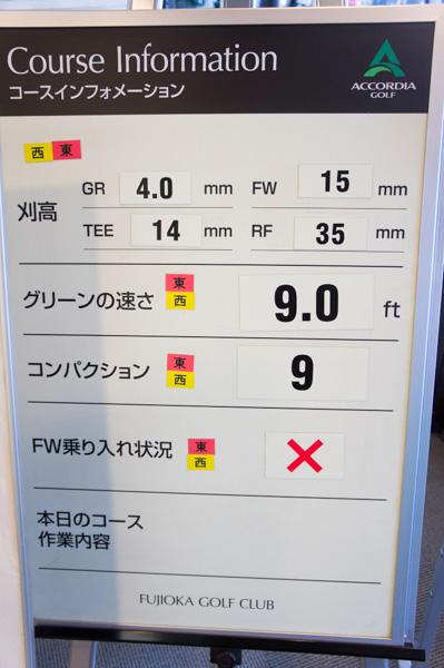 藤岡ゴルフクラブのコースインフォメーションの画像