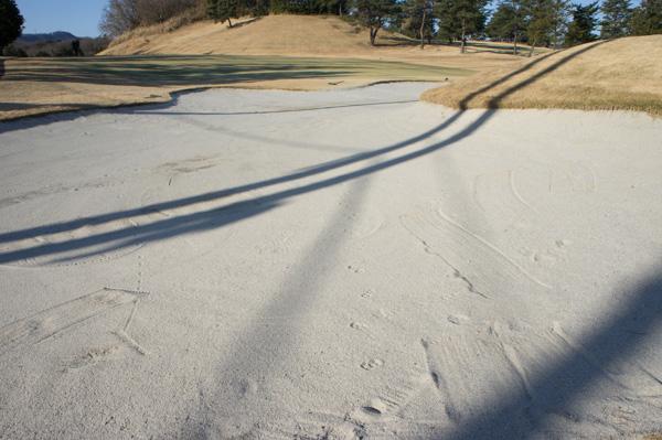 藤岡ゴルフクラブのバンカーの画像