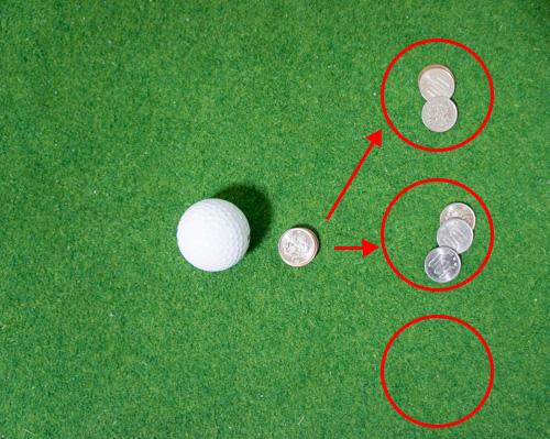 コインの枚数を分ける画像