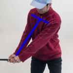 ゴルフスイングは胸で運ぶ、グリップは胸の前の感覚が分かった