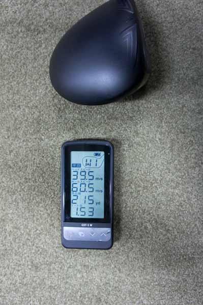 XR16ドライバーのユピテルGST-5Wの測定結果の画像