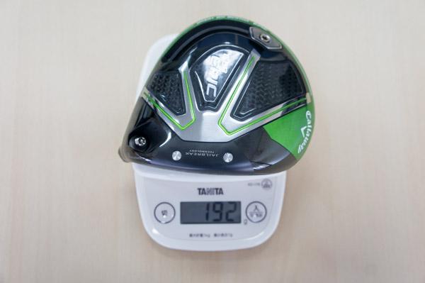 キャロウェイエピックドライバーus版のヘッドの重さの画像
