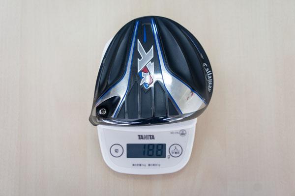 キャロウェイXR16ドライバーのヘッドの重さの画像